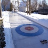 MD homemade curling sheet