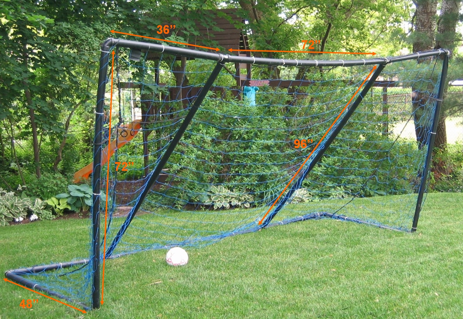 how to make a homemade soccer goal out of pvc pipe