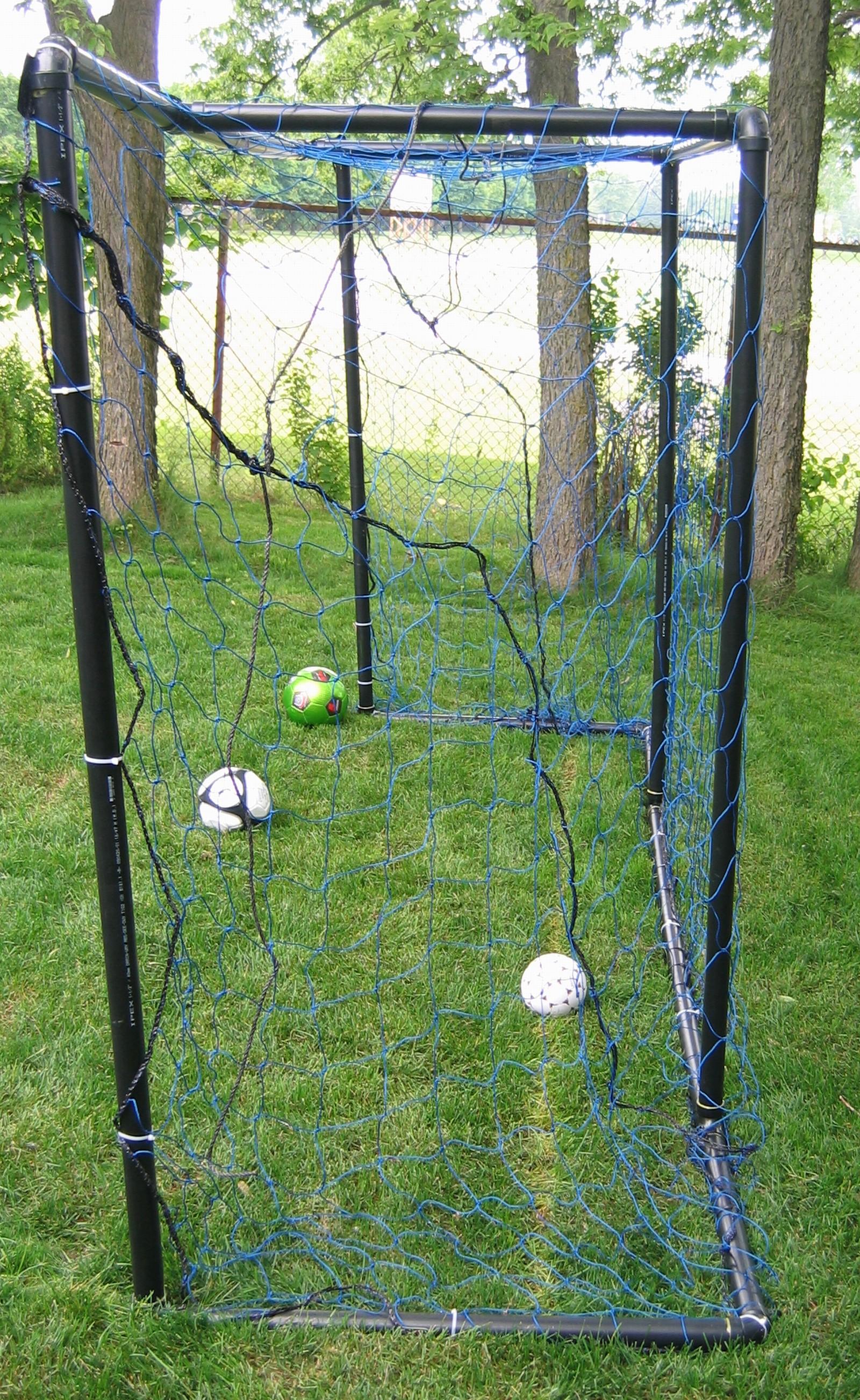 Soccer Backyard Nets : Soccer Goal Kickback Soccer Goal Nets Homemade